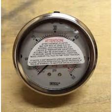 8345392- 2.5 Dial 1/4 CBM - 30HG/0 KPA Vacuum Gauge