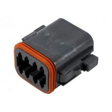 DT06-8SB - Black 8 Pin Plug