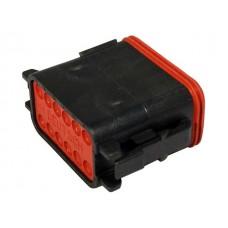 DT06-12SB - 12 Contact Male Plug Black